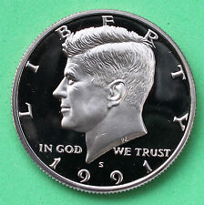 1991 S Proof Kennedy Half Dollar Coin 50 Cent JFK from Proof Set