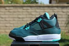 NIKE AIR JORDAN 4 RETRO IV BP PS 3 Y TEAL WHITE BLACK RETRO 308499 330