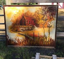 Carlo of Hollywood American 1950's - 60's Mid-Century Modern Landscape Red Mill