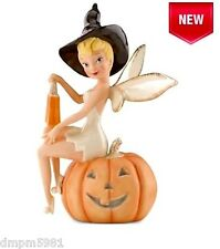 Lenox 2014 Disney's Tinks Halloween Treats Tinkerbell Witch on Pumpkin NIB!
