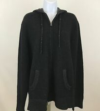 Vince Cashmere Wool Blend Sweater Hoodie Women's Size XL Hooded Zip-Up Jacket