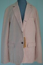 NWT Monitaly Mini Check Cotton Blazer Made In USA Size US 42