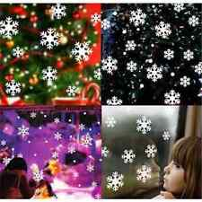14x White Snow Snowflake Frozen Decal Window Wall Sticker Christmas Decor TR Hot
