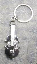 VIOLIN Silver Metal KEY CHAIN Ring Keychain NEW