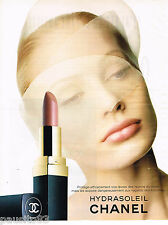 PUBLICITE ADVERTISING 055  1996  CHANEL  rouge à lèvres HYDRASOLEIL