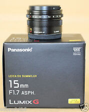 New Panasonic LEICA DG Summilux 15mm F1.7 ASPH Lens H-X015-K Black from Japan