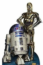 Star Wars R2D2 C3Po Robot Movie Wookie Lifesize Standup Cardboard Cutout 1806