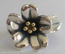 ❤️RETIRED JAMES AVERY APRIL FLOWER RING ~ New! 18k GOLD Silver Sz 5¼ w/ JA BoX❤️