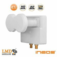 Monoblock LNB Twin iNEOS HD 4,3° 0,1dB ASTRA 19,2+23,5 or 23,5+28,2 SKYLINK