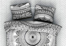 Indian Ombre Mandala Black & White Dyed Art Cushion Cover Pillow Case Sham Throw