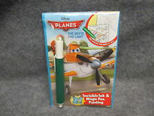 "Disney Planes ""The Sky's The Limit"" Invisible Ink & Magic Pen Painting Book NEW"