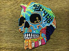 King Cobra Snake Mexican Sugar Skull Awesome Cool Embroidered Iron On Patches