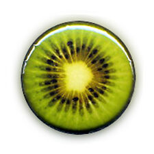 Badge KIWI vert acidulé fruit fruity juicy green gourmand yummy pop kawaii Ø25mm