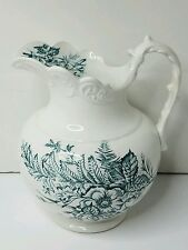 Antique Floral K. T. & K. Co Water Pitcher