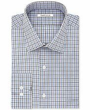$89 VAN HEUSEN Men REGULAR FIT WHITE BLUE PLAID CASUAL DRESS SHIRT 18.5 36/37
