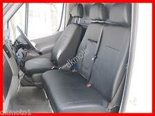 Tailored Leather Look seat covers VW Crafter   2006 - on   black 1+2 Leatherette