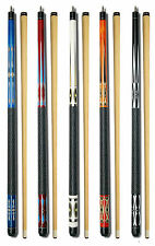 SET OF 5 POOL CUES New Two-Piece Billiard House Pool Cue Stick GJ6~10 FREE SHIP