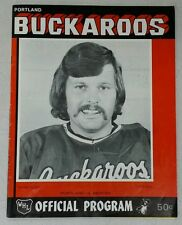 1973-1974 WHL Program - Denver Spurs at Portland Buckaroos