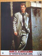 MEL GIBSON  - PAYBACK - LOBBY CARD