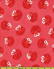 Spectrix Fabrics  Sesame  Street  100 % Cotton Fabric   226131 red  by theYard