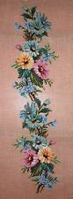 LD Vintage 1023 Colorful Daisy Bell Pull Preworked Needlepoint Petitpoint Canvas