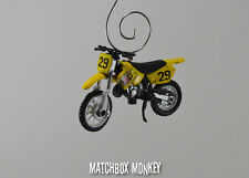 Suzuki RM125 Motorcycle Dirt Bike Custom Christmas Ornament 1:32 Scale FX 90's
