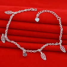 Jewelry Fashion  925 silver crystal chain Bracelet Anklet gift for women N-295