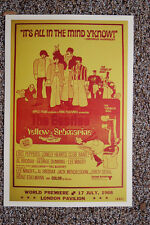Beatles Concert Tour Poster Yellow Submarine Lobby Card