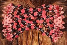 Magic Flower Double Comb Stretchy Hair Syling Clip brand new RED  -Spring Offer