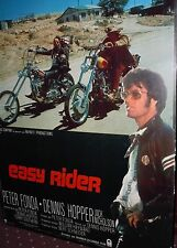VINTAGE Easy Rider 1969 Hopper Nicholson Original French Movie Poster 47x63 MINT