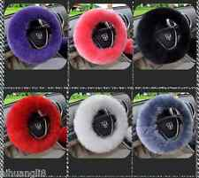 Car Steering Wheel Cover Elastic Plush Fluffy Woolen for Winter 12 Colors