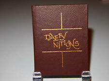 """1977 """"DAFFYnitions"""" printed by Black Cat Press miniature books"""