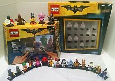 Lego Batman Movie Maker + All 20 Batman Minifigures 71017 & Display Case For All