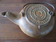 Old Antique 1868 Cast Iron # 8 Tea Pot Kettle W.C. Davis & Co. Cincinnati OH
