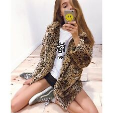 Last one!  Brandy Melville faux leopard mica fur coat  NWT OS