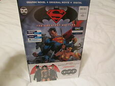 FACTORY SEALED Batman Vs Superman Graphic Novel+BluRay+Digital Ultimate Edition
