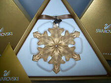 SWAROVSKI SCS WEIHNACHTSSTERN /CHRISTMAS ORNAMENT 2012 GOLDEN SHADOW GROß NEU