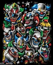 Scary Clown HEAT PRESS TRANSFER for T Shirt Tote Sweatshirt Quilt Fabric 673o