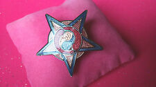 WONDERFUL Vintage Art Nouveau Style 'STAR' Cloisonne Enamel Shawl Pin Brooch