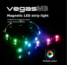 Akasa Vegas MB RGB Magnetic LED Strip Light, Designed for Motherboard Control