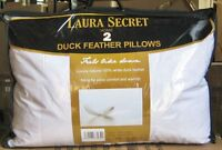 PAIR OF EXTREMELY SOFT LAURA SECRET DUCK FEATHER PILLOWS.