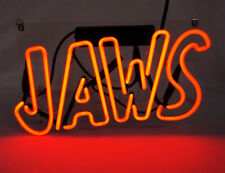 "New 'JAWS' Hand Craft Home neon Beer Pub Light bar sign 12""x7"" [High Quality]"