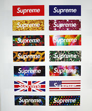 14pcs Vinyl Stickers Supreme Logo Snowboard Luggage Car Laptop Bike Phone Helmet