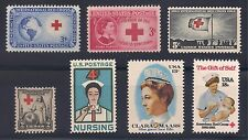 1931-1981 RED CROSS & NURSING - SET OF 7 DIFFERENT U.S. STAMPS - MINT CONDITION