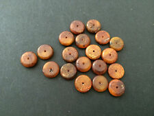 Natural antique Baltic amber stone beads #7366