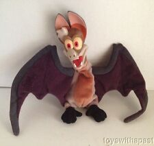 "1998 Ferngully BATTY Doll Vinyl Plush 8"" Bat Movie Stuffed Animal"