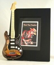 STEVIE RAY VAUGHAN  Miniature Guitar Frame SRV