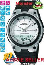 AUSSIE SELLER CASIO AW80 AW-80-7AV WORLD TIME TELEMEMO 12 MONTH WARRANTY