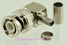 BNC Right Angle Male Crimp RF Radio Connector for RG-58 - by W5SWL ®