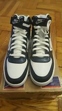 Nike Vandal High White Navy Metallic Silver 317173-100 Sz 11 US/ 10 UK/ 45 EU